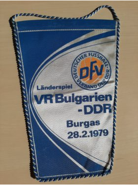 DDR Fussball Wimpel Nationalmannschaft Fussballmuseum Springe